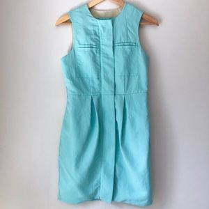 NWOT ASOS Blue Zip Up Fully Lined Dress